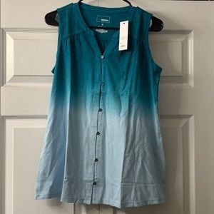 NWT Sonoma small button down tank top